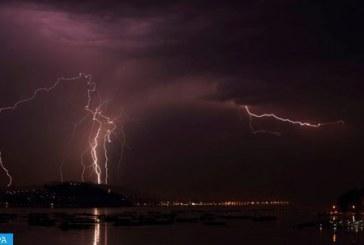 Averses orageuses localement fortes dans plusieurs provinces du Royaume