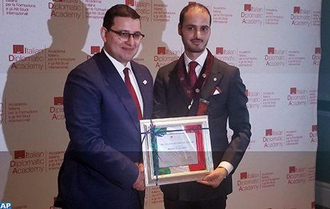 Brahim Fassi Fihri primé à New York par l'Académie diplomatique italienne