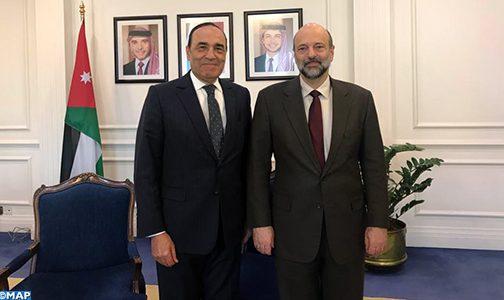 El Malki et le chef de gouvernement jordanien se félicitent des bonnes relations entre les deux pays
