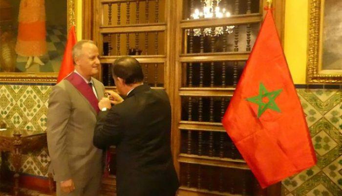 L'ambassadeur du Maroc décoré des insignes de la Grand-Croix de l'Ordre du Soleil du Pérou