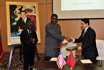 Maroc-Libéria : Signature de plusieurs accords de coopération