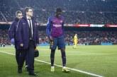 """FC Barcelone: Dembélé incertain contre Lyon en C1, à cause d'une """"petite élongation"""""""