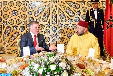 SM le Roi offre un déjeuner en l'honneur du Souverain Abdallah II