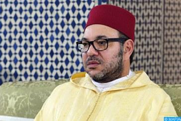 SM le Roi, accomplit la prière du Vendredi à la mosquée Palestine à Salé