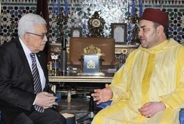Le Président palestinien salue les efforts de SM le Roi dans le soutien de la résistance des Maqdessis