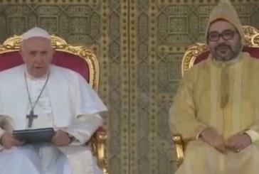 Discours de SM le Roi à l'occasion de la visite du Pape François au Maroc