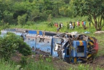 Déraillement d'un train en RDC: au moins 24 morts