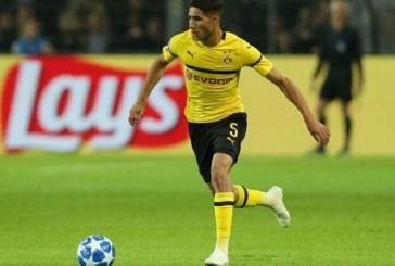Bundesliga: Achraf Hakimi forfait pour le match au sommet contre le Bayern
