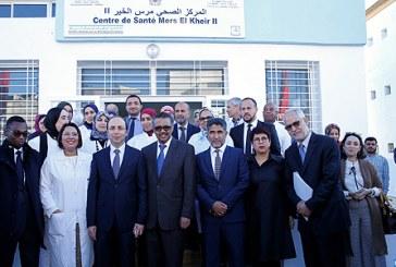 """Doukkali et le DG de l'OMS inaugurent le centre de santé rural """"Al Mers 2"""""""