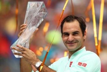 Tennis: Federer décroche à Miami le 101e titre de sa carrière