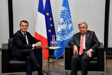 Entretien Macron-Guterres sur la situation en Libye