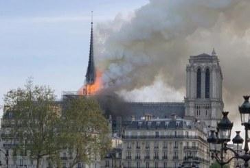 France: incendie en cours à Notre-Dame de Paris