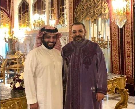 Turki al sheikh et SM Mohammed VI