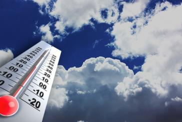Températures minimales et maximales prévues pour la journée du lundi 8 avril