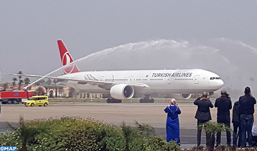 "Inauguration de la ligne directe Istanbul-Marrakech de la ""Turkish Airlines"""