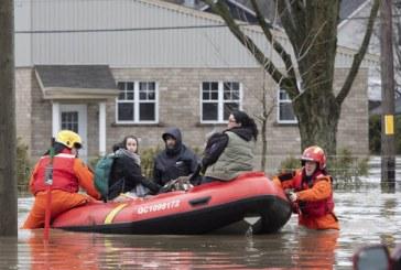 Inondations printanières : Évacuation d'urgence de 6.500 personnes au Québec
