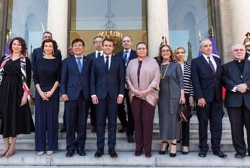 Une délégation de l'Unesco conduite par Audrey Azoulay et Zohour Alaoui reçue à l'Elysée