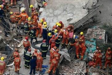 Cinq morts dans l'effondrement d'un immeuble à Shanghai