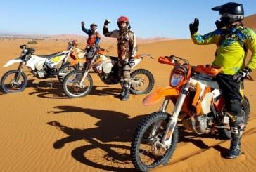 """Le 1er raid """"Morocco Motorcycle Tour"""" fait escale à Laâyoune"""