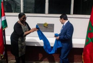 [Diaporama] Inauguration et dévoilement de la plaque commemorative de l'Institut diplomatique du Suriname, dont le Maroc a contribué à la restructuration
