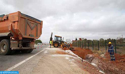 Interruption temporaire de la circulation sur la route régionale n° 413 reliant Sidi Kacem et Meknès