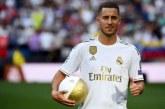 Le Real Madrid présente sa nouvelle recrue Eden Hazard au Santiago Bernabeu