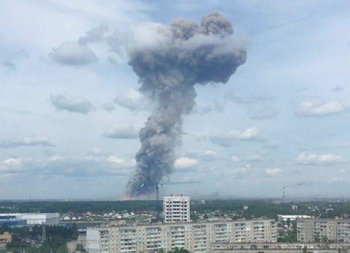une usine d'explosifs