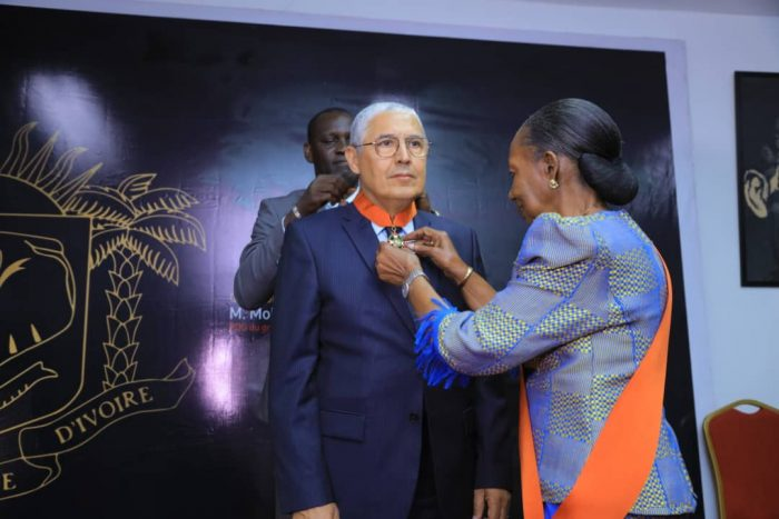 Mohamed EL KETTANI, PDG d'Attijariwafa bank, élevé au grade de Commandeur de l'Ordre National de Côte d'Ivoire