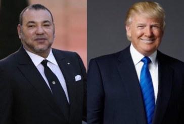 Le président Donald Trump félicite SM le Roi à l'occasion de la Fête du Trône