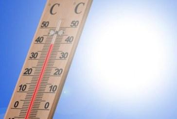Températures minimales et maximales prévues pour la journée du lundi 22 juillet