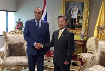 El Malki s'entretient avec les présidents du parlement et du Sénat de la Thaïlande