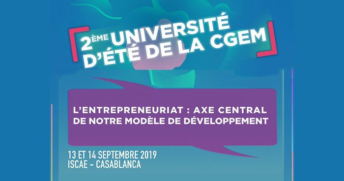 La CGEM tient sa 2ème Université d'Été