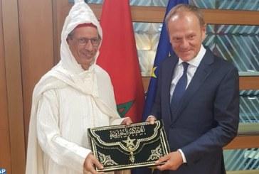 Ahmed Rahhou remet ses lettres de créance au Président du Conseil européen