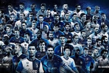 La FIFA dévoile la liste des 55 joueurs nommés pour l'équipe type de l'année 2019