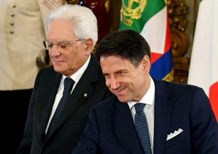 Italie Prestation de serment du nouveau gouvernement de Guiseppe Conte