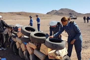 Ouarzazate : destruction de plus d'une tonne de drogue