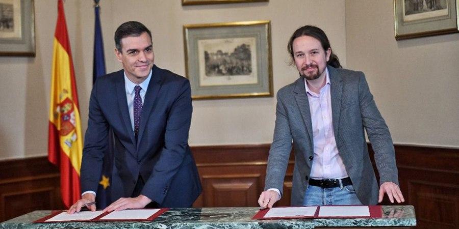 Le PSOE et Podemos signent un accord de principe pour former un gouvernement