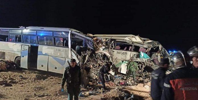 Douze morts et 46 blessés dans la collision de deux bus en Algérie