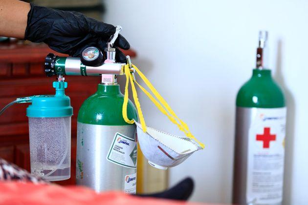 bouteilles d'oxygène