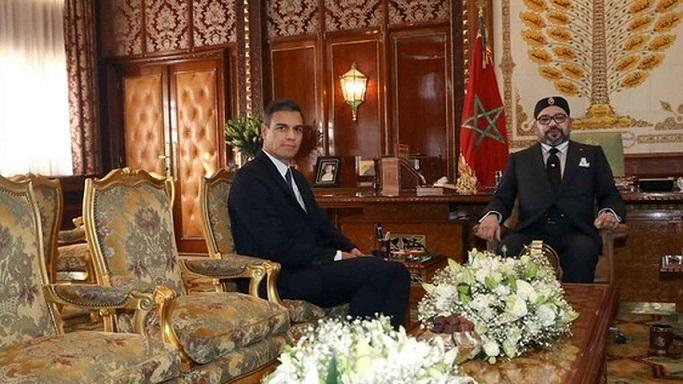 Le Roi Mohammed VI et le chef de gouvernement Pedro Sanchez