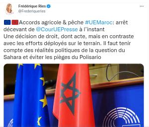 réaction d'une eurodéputée